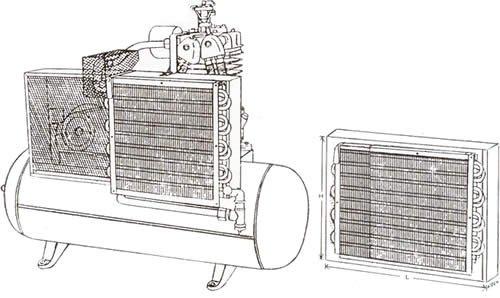 aircooled air compressor aftercoolers