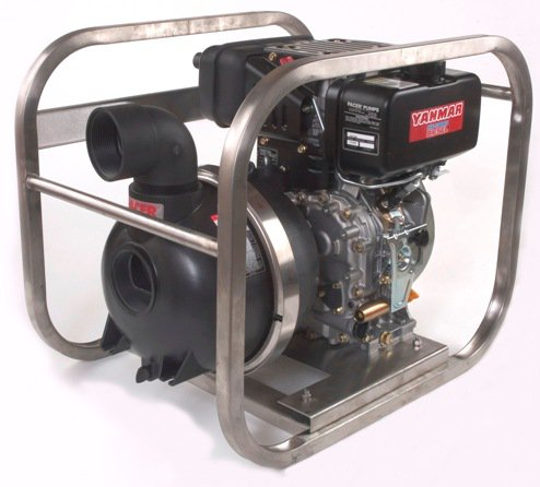 Pacer Diesel Driven Trash Pump with Yanmar Engine